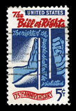 US Postage Stamp Celebrating the Bill of Rights Stock Photo