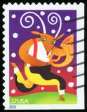 US Postage Stamp. Christmas time Royalty Free Stock Photo