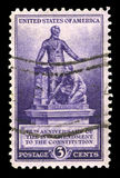 US Postage Stamp Commemorating the 13th Amendment Stock Images