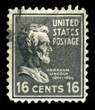 US Postage Stamp Depicting Abraham Lincoln Royalty Free Stock Photos