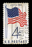 US Postage Stamp Depicting the 50 Star USA Flag Royalty Free Stock Photos