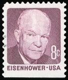 US Postage stamp. Dwight Eisenhower Royalty Free Stock Images
