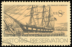 US Postage Stamp. Historic Preservation Stock Photography