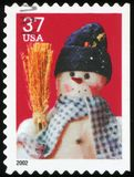 US Postage Stamp. Snowman - high resolution Royalty Free Stock Photos