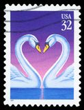 US Postage Stamp. USA - CIRCA 1997: Postage stamps printed in USA, shows Swans, circa 1997 Stock Photography