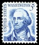 US Postage Stamp. USA - CIRCA 1950: A stamp printed in the USA shows image portrait George Washington, circa 1950 Royalty Free Stock Images