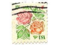 US postage stamp on white background Royalty Free Stock Photos