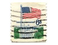 US postage stamp on white background Stock Photo