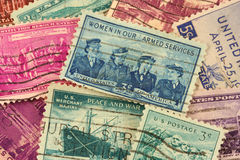 US postage stamps Royalty Free Stock Image