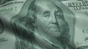 US Präsident Benjamin Franklin Crumpled One Hundred Dollar Bill