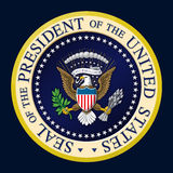 US-Präsidentendichtungs-Farbe Stockfotografie