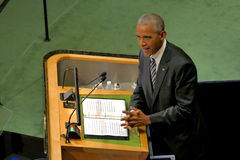 US President Barack Obama holds a speech, the General Assembly of the United Nations Royalty Free Stock Photography