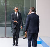 US President Barack Obama at the NATO summit in Newport Stock Photos