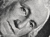US president George Washington face portrait on the USA one doll Royalty Free Stock Photos