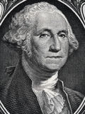 US president George Washington face portrait on the USA one doll Stock Photography