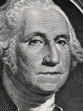 US president George Washington face portrait on the USA one doll Royalty Free Stock Photography