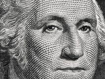US president George Washington face portrait on the USA one doll Stock Photo
