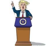 US President Trump Stock Photo