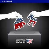 US presidential 2012 election democrat or republic Stock Photos