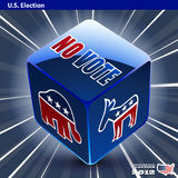 US presidential 2012 election democrat or republic Stock Photo