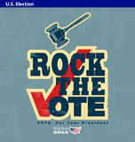 US presidential 2012 election rock the vote poster Royalty Free Stock Images