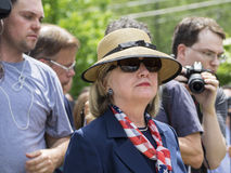 US presidential candidate Hillary Clinton. CHAPPAQUA, NY - MAY 26 - Hillary Clinton attends the Memorial Day celebrations in her hometown of Chappaqua, New York royalty free stock photo