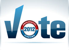 Us presidential election in 2012. Vector button and hand cursor royalty free illustration