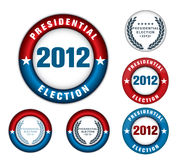 Us presidential election in 2012. Vector button and hand cursor Royalty Free Stock Photos