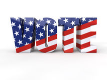 US presidential election. In 2012 3d render Royalty Free Stock Images