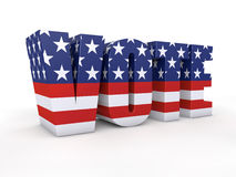 US presidential election. In 2012 3d render Royalty Free Stock Photos