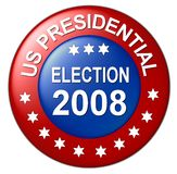 Us presidential election button Stock Photography