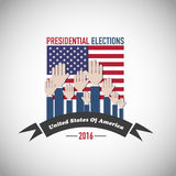 US Presidential Elections 2016. Abstract Background Royalty Free Stock Image