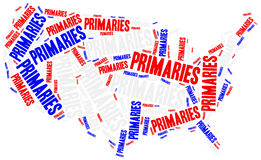 US primaries. Concept related to american president election. Royalty Free Stock Photos
