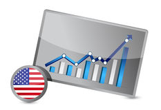 US profits graph illustration Stock Image