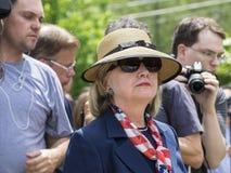 US-Präsidentschaftsanwärter Hillary Clinton Lizenzfreies Stockfoto