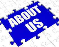 About Us Puzzle Shows Company Profile Royalty Free Stock Photography
