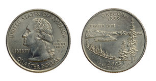 US Quarter coin royalty free stock photo