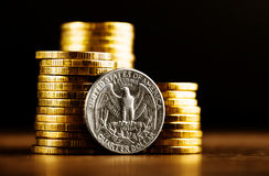 Us quarter dollar coin Royalty Free Stock Image