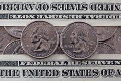 US quarter dollar coins Royalty Free Stock Photos