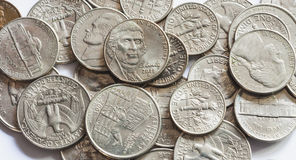 US quarter dollar coins Stock Image