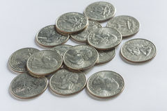 US quarter dollar coins Royalty Free Stock Photo