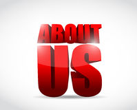 About us red sign illustration design Stock Photo