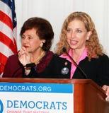 US Reps. Nita Lowey and Debbie Wasserman Schultz. New York Democratic Congresswoman Nita Lowey joins Florida Democratic Congressman Debbie Wasserman Schultz Stock Images