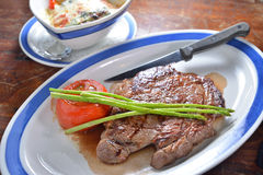 US Ribeye steak Royalty Free Stock Image
