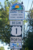 US Route 1 Starting Point, Key West, Florida Stock Photos
