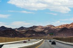 US Route 93 Royalty Free Stock Photo