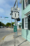 US Route 1 End Point, Key West, Florida Royalty Free Stock Photography