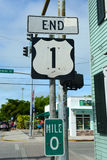 US Route 1 End Point, Key West, Florida Royalty Free Stock Image