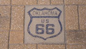 US 66 Route 66 in Oklahoma - STROUD - OKLAHOMA - OCTOBER 24, 2017 Royalty Free Stock Photos