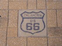 US 66 Route 66 in Oklahoma. USA 2017 Royalty Free Stock Photo
